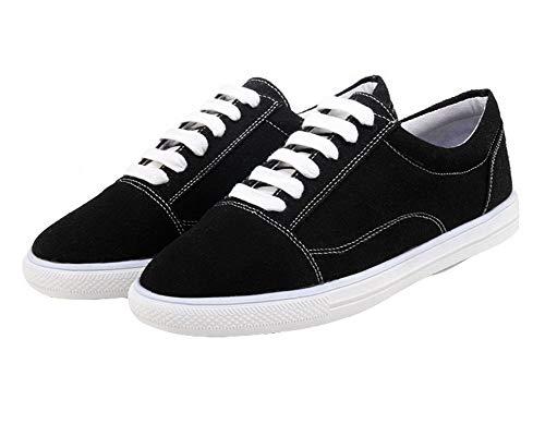 Tsmdh005834 Aalardom Tacón De Puntera Cordones Redonda Zapatos Negro Sólido Mujeres UqBUA8R