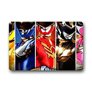"Custom Made Cute Cartoon Power Rangers Non-slip Non-woven Fabric Doormat 23.6""x15.7"" Sold By EENY MEENY"