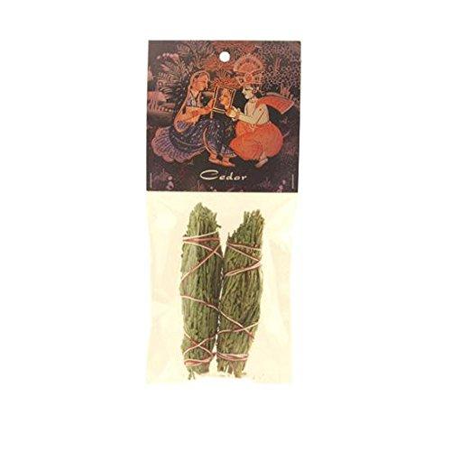 Smudging Herbs - Cedar Smudge Stick - 2 Mini Bundles by Prabhuji's Gifts