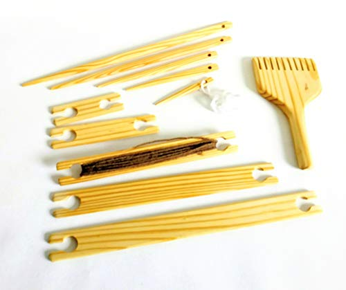 11 Piece Weaving Tapestry Beater Kit with shuttles 4,6,8,10,12 inches Needles 4,6,8,12,14