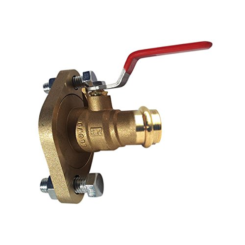 Red-White Valve 112RW2420F Brass Full Port Pump Flange Ball Valve with FNPT x Flange Ends 1 1//2 1 1//2 Standard Plumbing Supply