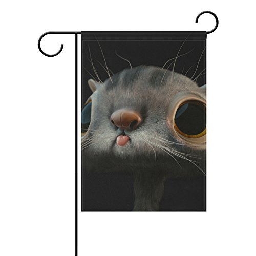 """LEISISI 3D Cat Garden flag 28""""X40"""" Two Sided Yard Decoration"""