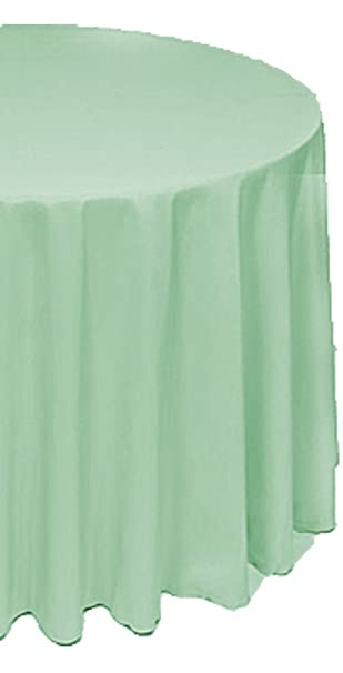 A 1 Tablecloth Company Round 120 Inch Polyester Table Cloth, Mint (Case