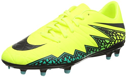 Nike Men's Hypervenom Phelon II FG Volt/Black Hyper Turq/Clr Jade Soccer Cleat 9 Men US (Volt Football Cleats compare prices)