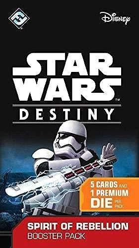Fantasy Flight Games Star Wars Destiny - Paquete de ampliación Spirit of Rebellion del juego de cartas Star Wars Destiny (1 paquete) (no ...
