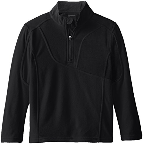Spyder Little Boys' Speed Half Zip Fleece Jacket, Black, ...