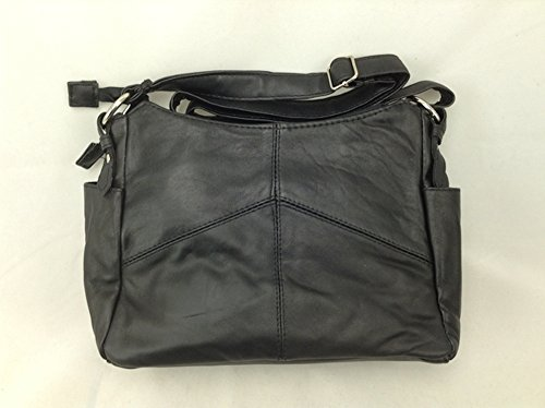 Embassy Solid Genuine Lambskin Leather Purse ~ - Genuine Shoulder Bag Leather Embassy