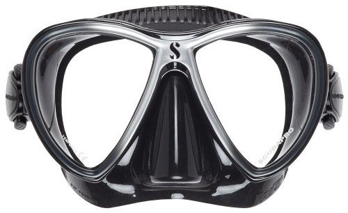 Pack Blk Twin - Scubapro Synergy Twin Trufit Scuba Diving Mask (BLK/SILVER)