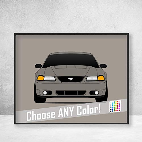 Ford Mustang SVT Cobra (2003-2004) Terminator Cobra Poster Print Wall Art Decor Handmade ()