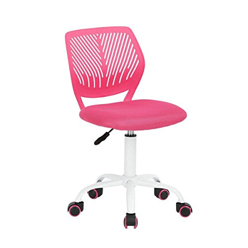 GreenForest Adjustable Kids Study Chair Low Back Small Desk Chair, Pink