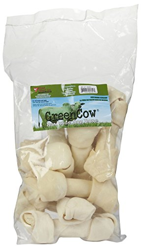 Green Cow Rawhide Bone - 6-7 - 8 ct