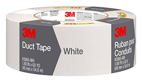 3M Scotch Duct Tape,  1.88-Inch by 60-Yard - White, 1 Pack