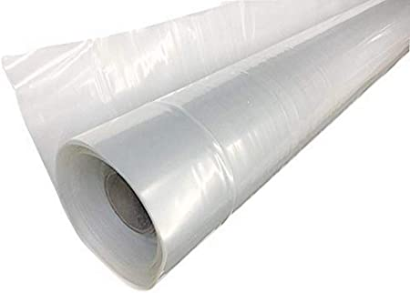 Clear 6 mil Plastic Rain Weather Cover Poly Sheeting Roll Protection 10 x 50 ft