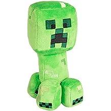 "JINX Minecraft Happy Explorer Creeper Plush Stuffed Toy (Multi-Color, 7"")"