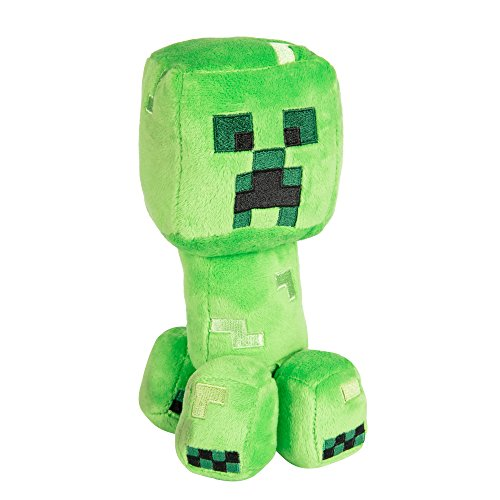 JINX Minecraft Happy Explorer Creeper Plush Stuffed Toy, Green, 7