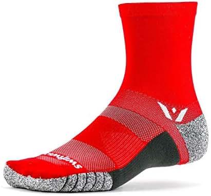 Swiftwick- FLITE XT FIVE | Running and Golf Socks, Fitness | Ultimate Stability, Non-Slip Crew Socks
