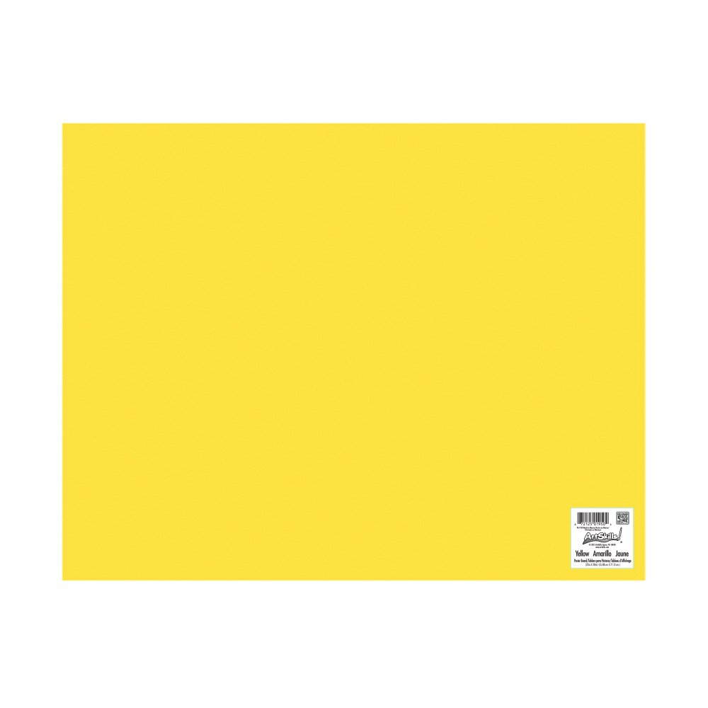 ArtSkills Poster Board, 22 x 28 Inches, Pack of 25, Yellow (PA-1950) by ArtSkills (Image #2)