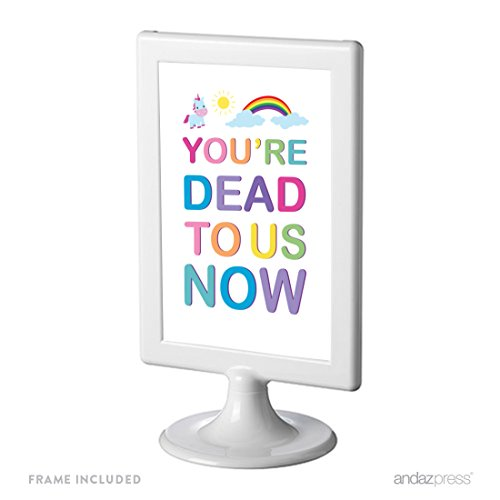 - Andaz Press Funny Farewell Retirement Party Decorations, You're Dead to Us Now, Framed Party Sign, 4x6-inch, 1-Pack