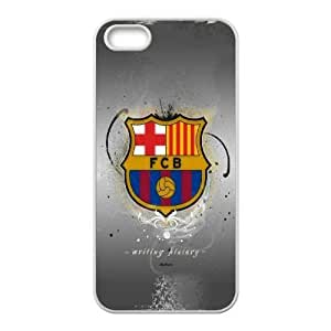 FC barcelona_002 For iphone 5 5s SE Cell Phone Case White pu1m0h_7597488