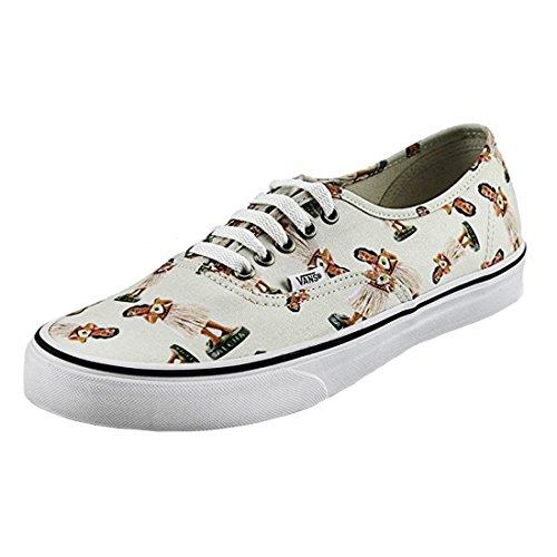 (Vans Authentic Digi Hula Classic White/True White Ankle-High Canvas Fashion Sneaker - 9.5M /)