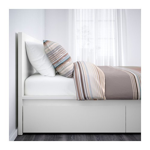 Ikea Queen size High bed frame/4 storage boxes, white, Lönset 22386.82914.161822386.82914.1618 by IKEA