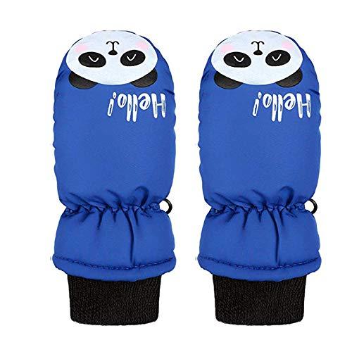 Risaho Skihandschuhe Kinder Kinderhandschuhe Wasserdicht Fäustlinge Handschuhe Panda-Muster Jungen Mädchen Winterhandschuhe