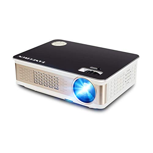 "TANGCISON Projector - 3300 LUX LED Projector, Video Projector with 150"" and 1080P Support, Compatible with Fire TV Stick, HDMI, VGA, TF, AV and USB for Outdoor Indoor Movie/Home Cinema Theater/Game"