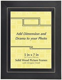 Amazoncom Old Town 8x10 Black Vanilla Rub Wood Frame 2 Pack