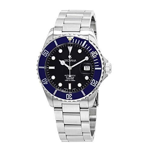 Grovana Men's 1571.2135 Diver Diver Black Dial Blue Bezel Automatic Watch