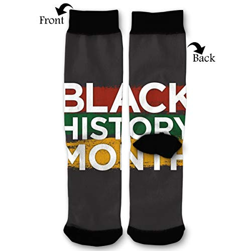 Black History Month Color Logo Socks Funny Fashion Novelty Advanced Moisture Wicking Sport Compression Sock for Man -