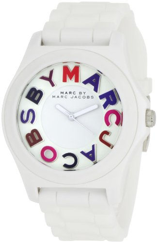 Marc by Marc Jacobs Women's MBM8535 Sloane White 3-Hand Analog Multicolored Dial Watch