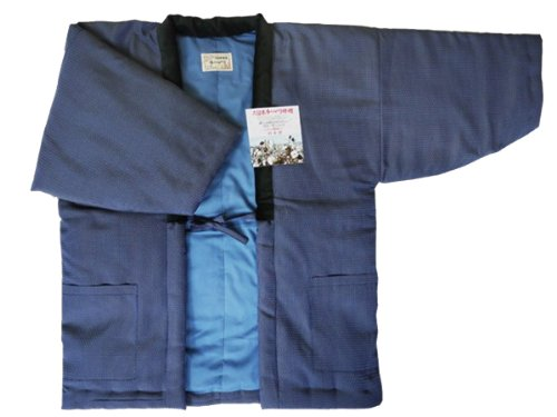 Hexagonal pattern HANTEN (Cotton jacket made in Japan Kimono-style)Japanese clothes size Men's ()