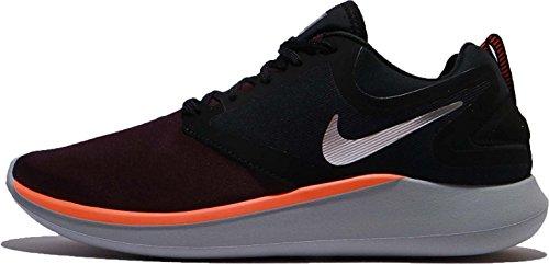 Price comparison product image Nike Men's Lunarsolo Running Shoes (9.5 D(M) US, Black/Chrome-Port Wine)