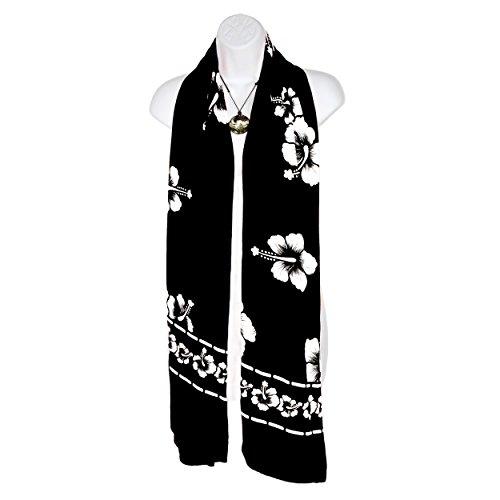 1 Couleurs Noir Du Dans Floral Largeur Cou Femme Votre Écharpe Paréos Hibiscus Pour nbsp;monde Choix De 6qwpr6