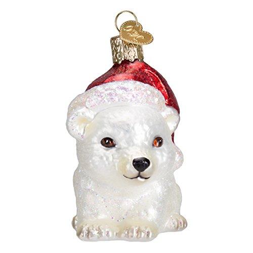 Old World Christmas Ornaments: Christmas Polar Bear Glass Blown Ornaments for Christmas Tree