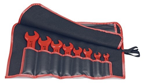 KNIPEX 98 99 13 S5 8 Piece 1,000V Metric Insulated Open End Wrench Set