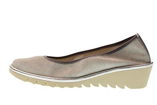 The Flexx Chaussures Femme Compensées avec Coin A206_22 Mel A Drama Argent Argent jrKomiUh5