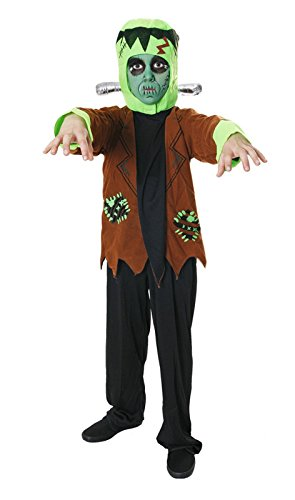 Boys Frankenstein Monster Halloween Horror Book Day Fancy Dress Costume Age 7-9