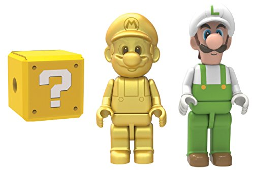 K'NEX 38867 Golden Mario and Fire Luigi Mystery Figures (Figure Gold Trophy)
