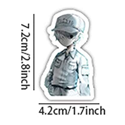 Opopark 42pcs/Set Anime Cells at Work - White Blood Cell and Platelet Anime Decal Sticker for Car/Truck: Home & Kitchen