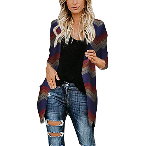 Clearance Forthery Cardigan for Women Shawl Collar Printed