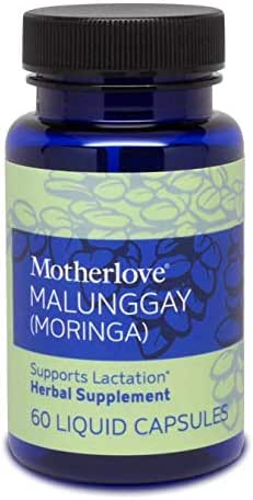 Motherlove - Malunggay (Moringa), Nutrient-Dense Herbal Breastfeeding Supplement for Nursing and Pumping Moms, Potent Lactation Support for Milk Supply, Alcohol-Free Vegan Liquid Capsules, 60 Count