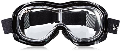 Pacific Coast Airfoil Padded 'Fit Over Glasses' Riding Goggles (Black Frame/Clear - For Riding Prescription Motorcycles Glasses