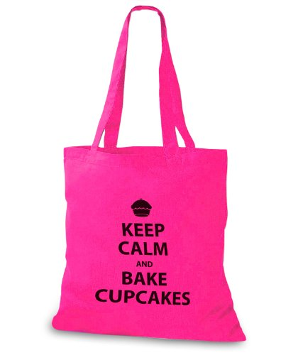 StyloBags Jutebeutel / Tasche Keep Calm and bake Cupcakes Pink 0HUhz