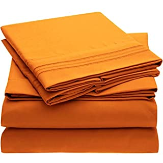 Mellanni Bed Sheet Set - Brushed Microfiber 1800 Bedding - Wrinkle, Fade, Stain Resistant - 4 Piece (Queen, Persimmon) (B01DN0ANAU) | Amazon price tracker / tracking, Amazon price history charts, Amazon price watches, Amazon price drop alerts