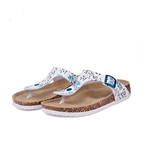 YaMiFan Footbed Casual Platform Buckle Strap Flip Women's Thong Sandals Strap 26 T Flop r61rqxS
