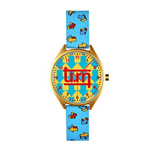 TURNT Colorful Holographic Watch – 38mm Unisex Holographic Arrow Watch – Genuine Leather Large Face Designer Wristwatch…