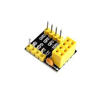 ESP8266 ESP-01S Wireless Transceiver Module+Breadboard Adapter Breakout  New
