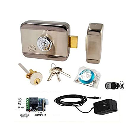 NAVKAR SYSTEMS Lock for Wooden Doors with Receiver and One Remote Including Adapter (Multicolour)