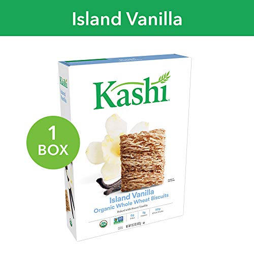 (Kashi, Breakfast Cereal, Organic Island Vanilla, Vegan, Non-GMO Project Verified, 16.3 oz)